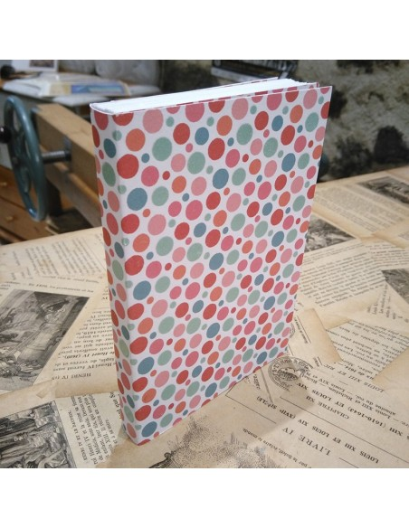Handmade notebook. Traditional binding. Fancy blanket. 64 pages.