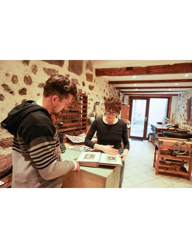 Artisanal manufacture of recycled paper. Creative workshop making paper.