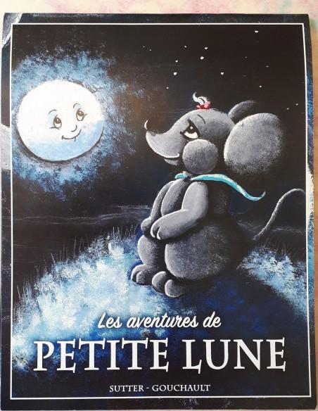 Libro infantil Les aventures de Petite Lune. De 3 a 8 años. Texto: Océane Gouchault - Dibujos: Sutter.