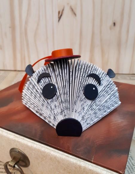 Baby hedgehog. Paper creation. Home decor.