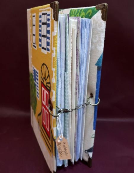 Cuaderno de viaje de aventura hecho a mano, hecho a mano, con cierre de cadena.