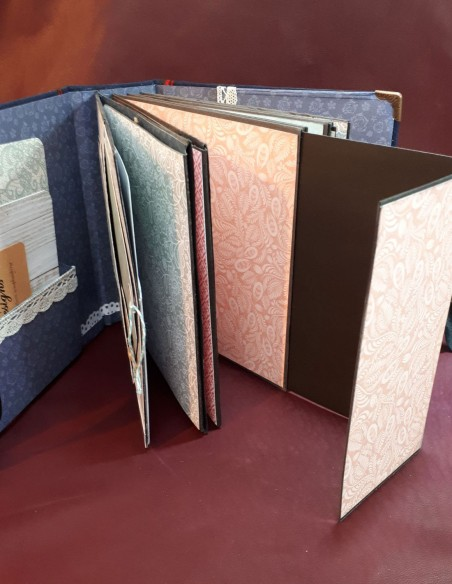 Diario de viaje de Séraphin. Diario de viaje de bolsillo hecho a mano. Bolsillos porta documentos para archivadores.