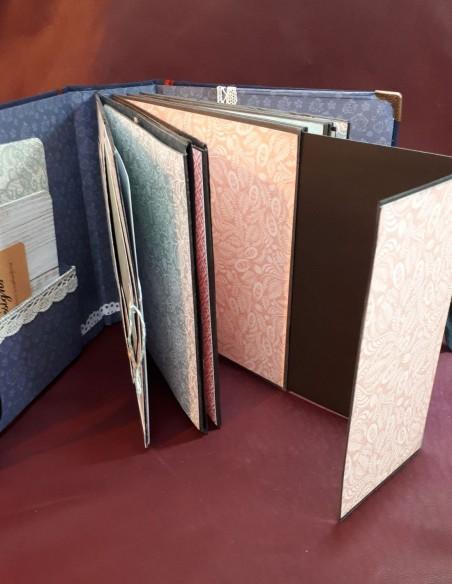 Séraphin travel diary. Handmade pocket travel diary. Document holder file pockets.