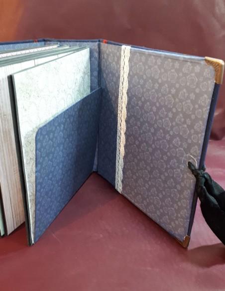 Diario de viaje de Séraphin. Diario de viaje de bolsillo hecho a mano. Bolsillos para sobres.