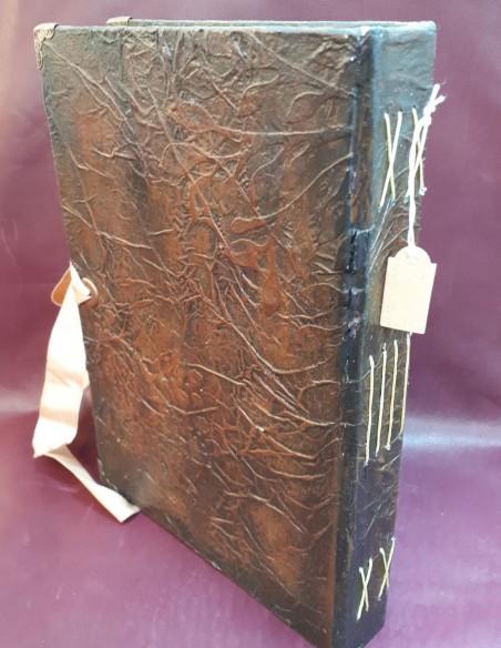 Back cover Handmade Cherub notebook by Nubiya Design.