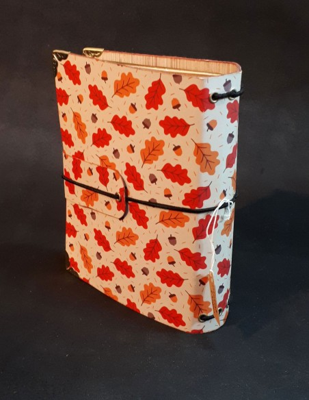 Cover of the private journal adorned with autumn leaves.