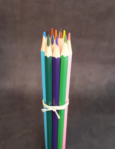 Pack of 12 colored pencils.