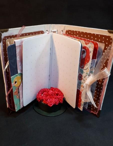 Página de cuaderno para contar sus días en el diario.