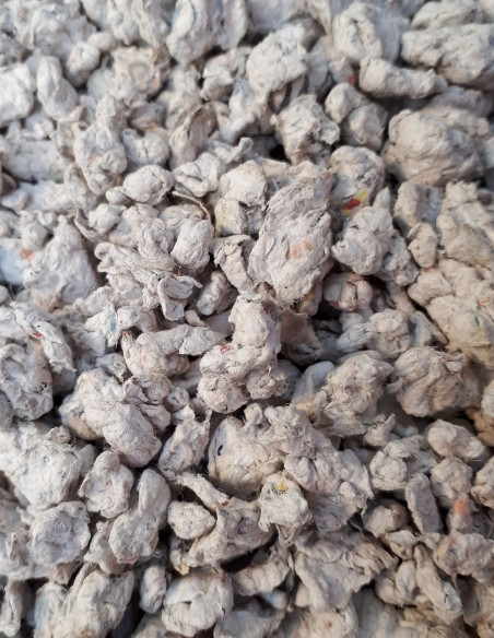 Paper pulp made from recycled paper.