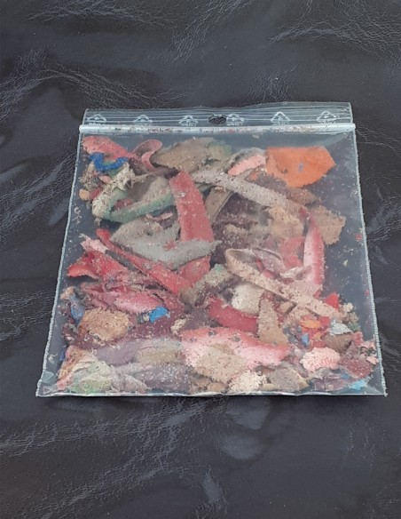 Sachet de lanière de croûtes de cuir.