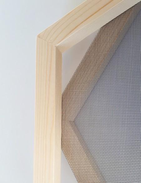 Tamis hexagonal pour réaliser des feuilles de papier. Vendu avec un cadre gabarit de forme hexagonale.
