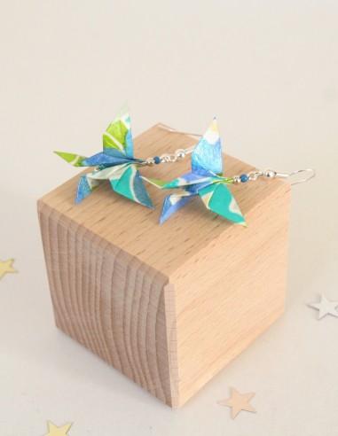 Pendientes grandes de mariposa origami