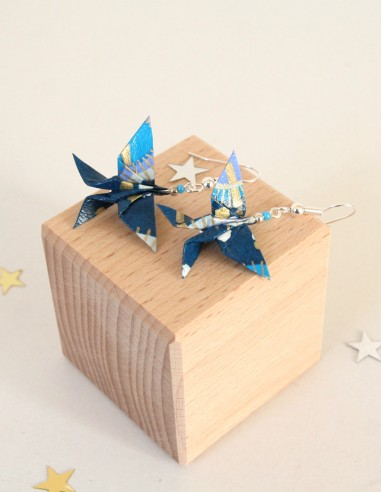 Boucles d'oreille origami Grand Papillon