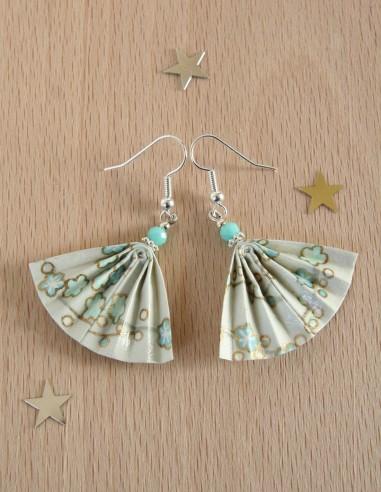 Origami Ginkgo earrings