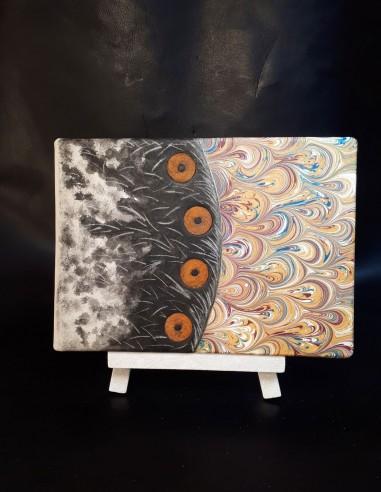 White notebook in sorrowful goatskin Handmade