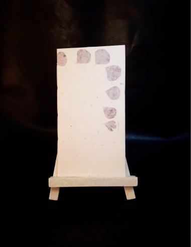 Blank notebook in rag paper Geranium flowers