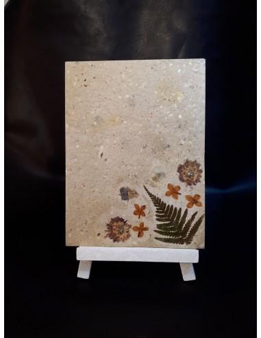 Tableau décor floral & papier recyclé