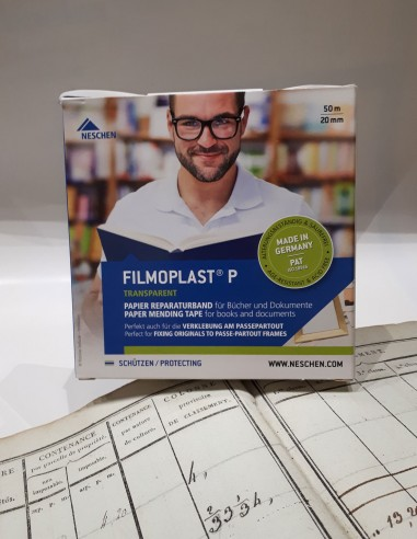 Filmoplast P - Repair of torn papers. Paper restoration. Fixing of free pages.